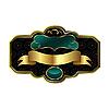 Векторный клипарт: богато украшенный декоративной золотой раме