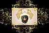 Векторный клипарт: золотые цветочные кадр