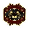 Векторный клипарт: золотой раме этикетки для упаковки вина