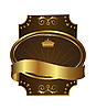 Vector clipart: Golden royal label with corners