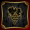 Vector clipart: golden label for packing wine