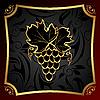 Векторный клипарт: золотой этикеткой для упаковки вина