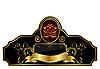 декоративные этикетки золотой раме