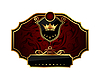 Vector clipart: golden frame label with crown