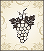Vector clipart: retro engraving of grapevine