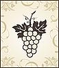 Векторный клипарт: Ретро гравюра виноградной лозы