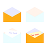 Векторный клипарт: Иллюстрация набор письмо с палкой