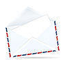 Vector clipart: open envelope of post