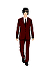 Vector clipart: businessman in suit