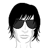 Vector clipart: face young man