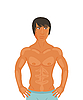 Vector clipart: sexy muscular guy