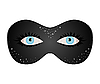 Vector clipart: blue eyes hidden under theatrical mask