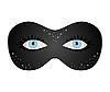 Векторный клипарт: Голубые глаза скрыты под театральная маска