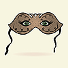 Vector clipart: green eyes hidden under theatrical mask