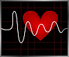 Heart and heartbeat symbol | Stock Vector Graphics