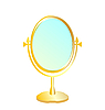 Vector clipart: gold mirror