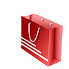 Vector clipart: red packet for shopping