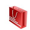 Векторный клипарт: красный пакетов для покупок