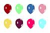 Векторный клипарт: набор воздушные шары на белом