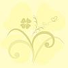 Векторный клипарт: милый фон цветы