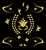 Vector clipart: Gold pattern