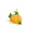 Vector clipart: Ripe orange pumpkin