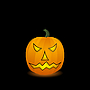 Vector clipart: Halloween pumpkin