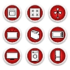 Vector clipart: Red buttons with icon 9