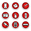 Vektor Cliparts: Icon set von Haushaltsgeräten