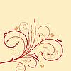 Векторный клипарт: Красивый фон с цветком для дизайна