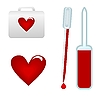 Vector clipart: medical test-tube with blood sample