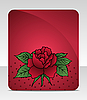 Vector clipart: celebration card with rose