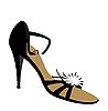 Векторный клипарт: Женщина обуви