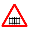 Vector clipart: road sign - railroad