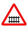 Vektor Cliparts: Verkehrzeichen - Eisenbahn