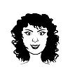 Векторный клипарт: Лицо красоты девушка