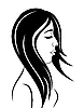 Vector clipart: beauty face girl portrait