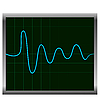 Vector clipart: Normal ECG (electronic cardiogram) blue