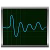 Векторный клипарт: Нормальная ЭКГ (электронные кардиограммы) синий