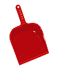 Vector clipart: Red plastic scoop for dust