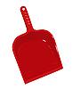 Векторный клипарт: Красный пластмассовый совок для мусора