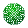 Vector clipart: Abstract green sphere