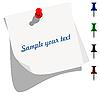 Векторный клипарт: Пустые бумаги записку с красочными контакты