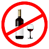 Vector clipart:  Sign stop alcohol