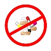 Vector clipart: Sign stop tablets