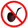 Vector clipart: Sign stop smoke tobacco