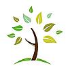 Векторный клипарт: иконка дерева