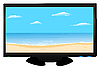 Vector clipart: Plasma of TV the beach image