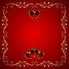 Векторный клипарт: Валентина открытки с сердцем