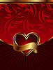 Vector clipart: background for design of packing Saint Valentine's Day